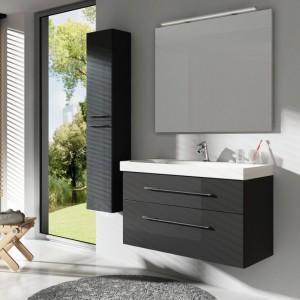 Meble łazienkowe: kolekcje w ciemnych kolorach