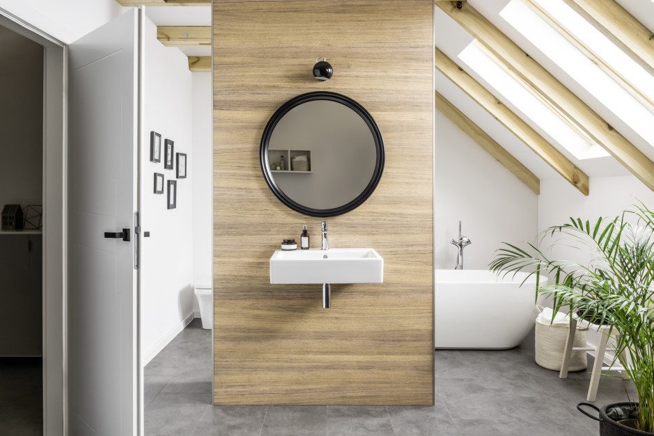 Aranżujemy ściany W łazience Co Zamiast Płytek łazienkapl