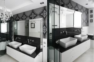 Łazienka w stylu glamour: inspiracje z polskich domów