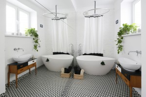 Łazienka z wanną wolno stojącą: zdjęcia z polskich domów