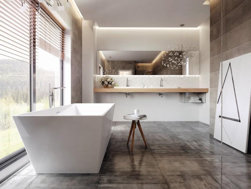 Eteryczna łazienka w bieli: pomysł na aranżację
