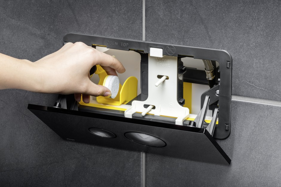 Higiena w toalecie: zasobnik na tabletki do WC