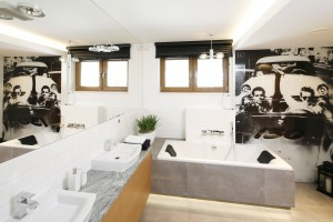 10 pomysłów na fototapetę w łazience