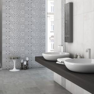 Szare płytki ceramiczne: 12 kolekcji do łazienki