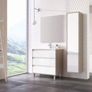 Jasne kolory i drewno - to jest modne w łazience!