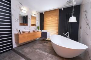 Elegancki apartament w Rzeszowie: zobacz jakie ma łazienki