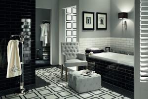 Czarno-biała łazienka: te kolekcje płytek będą idealne!