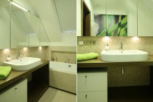 Mała łazienka: postaw na lustrzane szafki