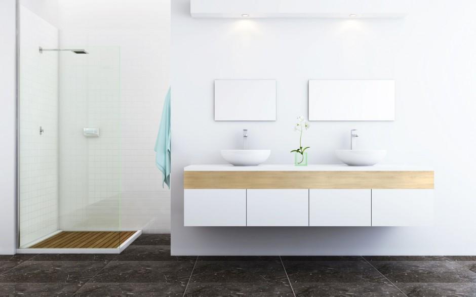 Płyty drewnopodobne w łazience