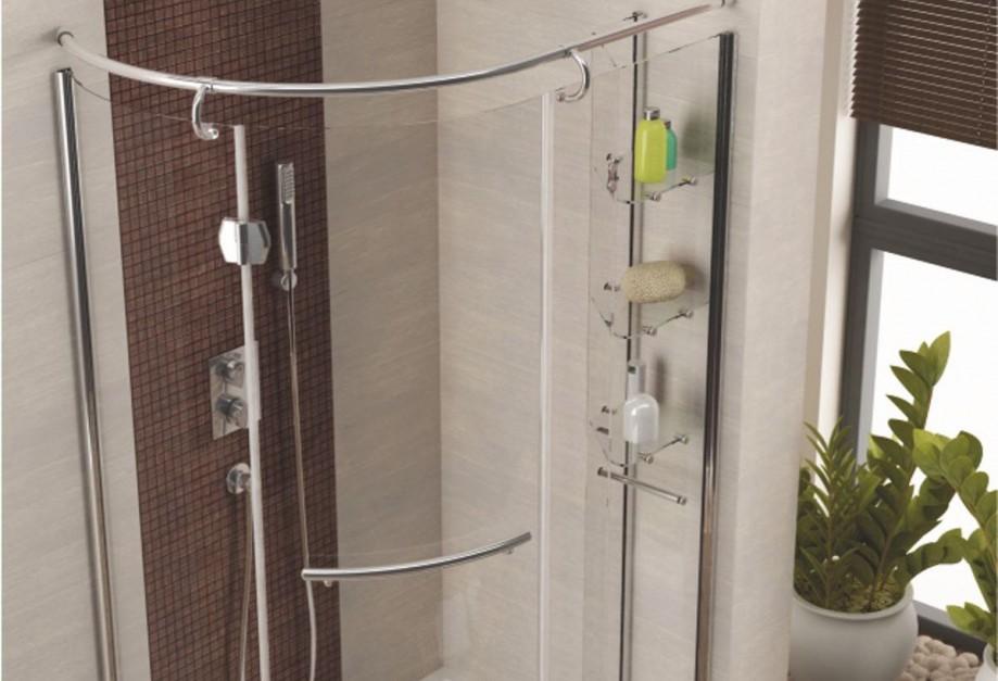 Strefa prysznica: gotowy zestaw kabina z brodzikiem