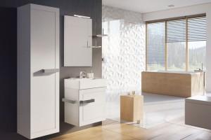 Meble łazienkowe: modne kolekcje w bieli