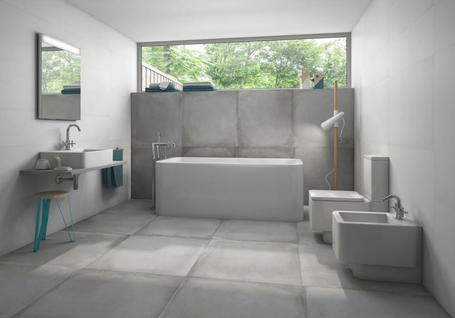 Aranżujemy Modna łazienka Postaw Na ściany Z Betonu