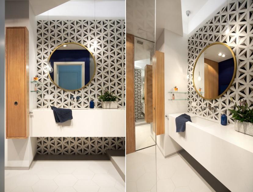 Łazienka z charakterem: postaw na wzorzyste płytki