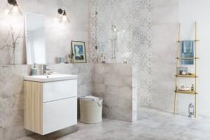 Patchwork w łazience: modne kolekcje płytek ceramicznych