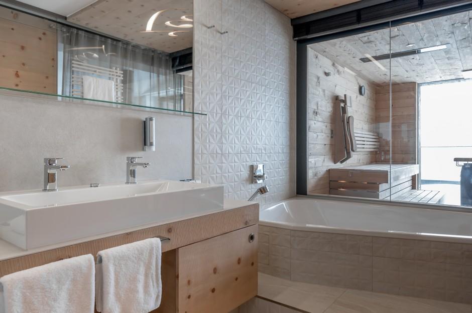 Łazienki w 4-gwiazdkowym hotelu dla narciarzy