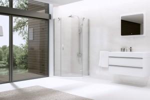 Prysznic w narożniku: 20 modeli kabin prysznicowych