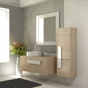 Meble łazienkowe: 10 kolekcji w kolorze drewna