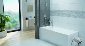 Sposób na małą łazienkę: parawan nawannowy