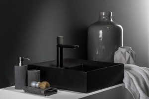 Baterie umywalkowe: 3 propozycje w czerni