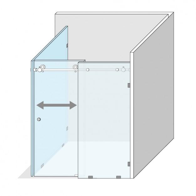 Funkcjonalna strefa prysznica: nowy system przesuwny do drzwi
