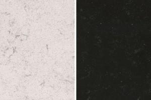 Blat w łazience: dwie nowe powierzchnie konglomeratowe
