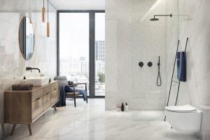 Marmur w łazience: piękne kolekcje płytek
