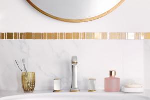 Klasyczna łazienka: baterie z dekoracyjnymi uchwytami
