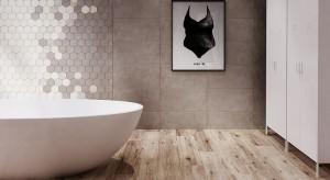 Heksagony w łazience: płytki jak plaster miodu