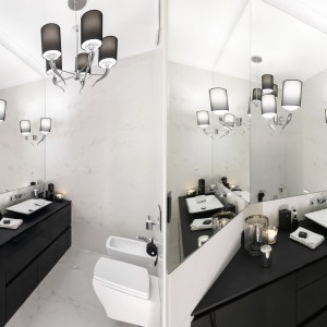 Czarno-biała łazienka: pakiet inspiracji