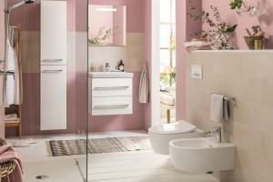 Kolor w łazience: postaw na pudrowy róż