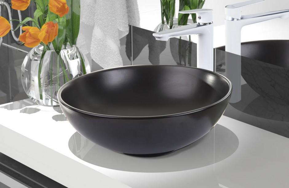 Umywalki nablatowe: elegancki model do wyboru - w czerni i bieli