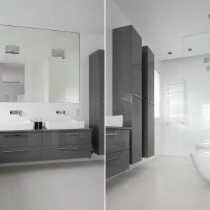 Szara łazienka: 20 różnych projektów z polskich domów