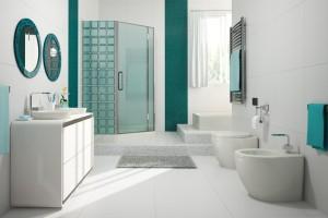 Szklane cegły w łazience, czyli powrót luksferów