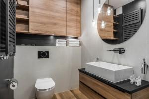 Łazienka w kolorach natury: zobacz piękny projekt
