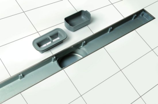 Syfon wodny wpustu prysznicowego KESSEL Linearis Compact