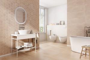 Łazienka w optymistycznych kolorach: piękne kolekcje płytek