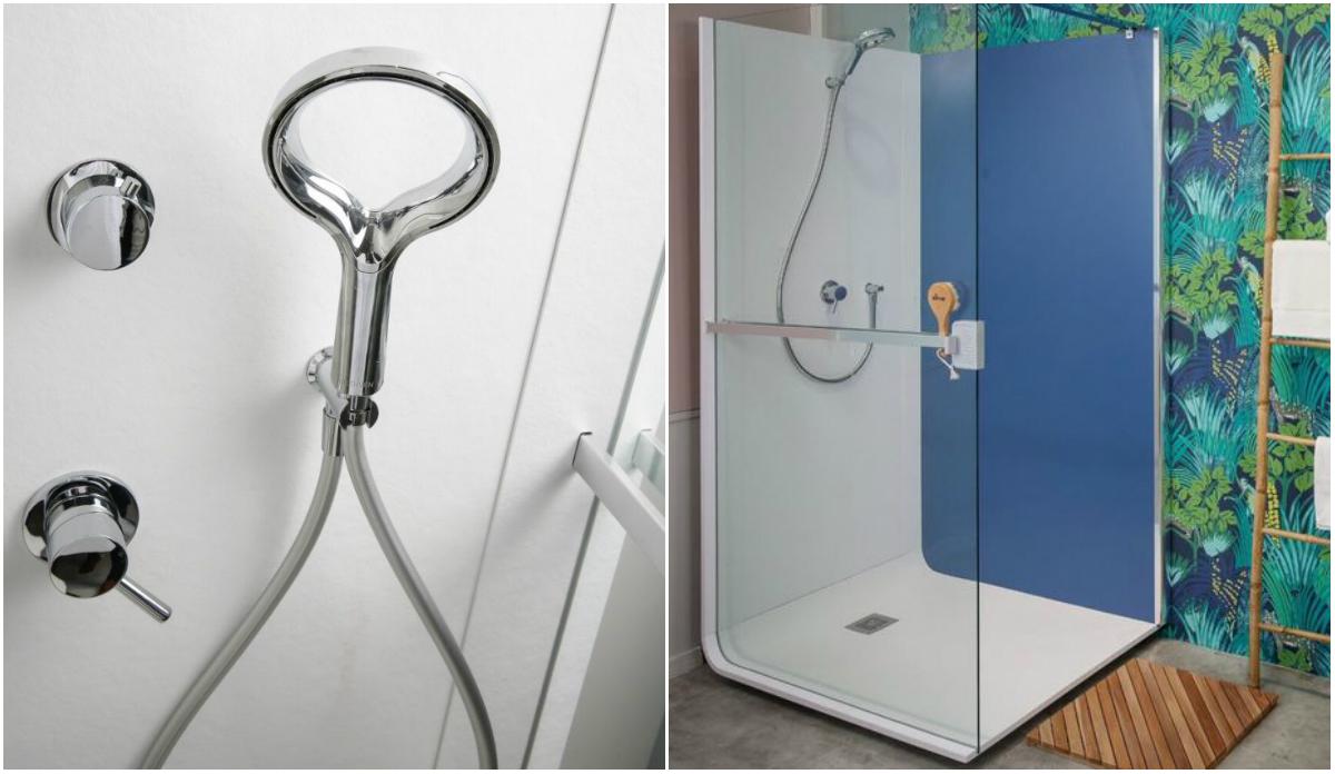 W zestawie prysznicowym znajduje się wbudowany wysokiej jakości, kontrolowany system nagłośnienia oraz dyfuzor olejku eterycznego, który wprowadza do kąpieli łagodne relaksujące zapachy. Fot. Elmer