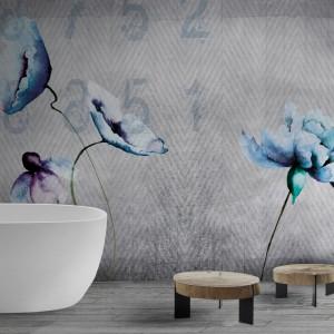 Ściana w łazience: bardzo piękne wodoodporne tapety