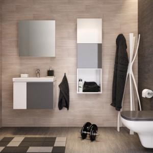 Szara łazienka: 5 kolekcji mebli