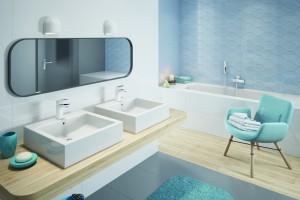 Baterie umywalkowe: 3 modele w białym kolorze