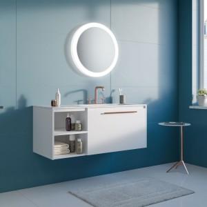 Okrągłe lustro w łazience: pakiet inspiracji