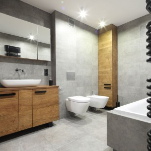 Szara łazienka: cztery gotowe projekty, każdy w innym stylu