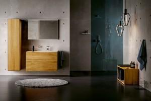 Meble łazienkowe: piękne kolekcje z rysunkiem drewna
