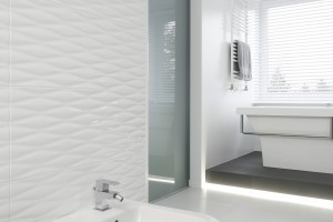 Płytki ceramiczne z fakturą 3D [polskie łazienki]