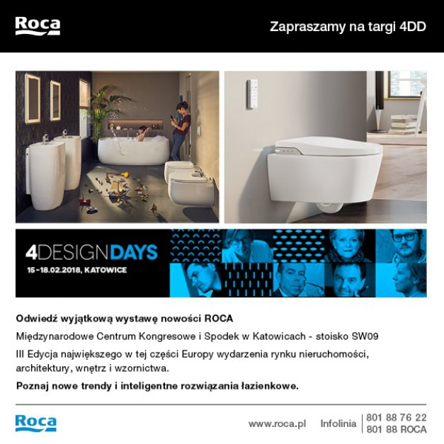 Roca oficjalnym partnerem 4 Design Days 2018