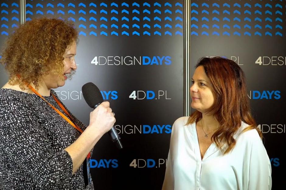 [Wideorelacja z 4DD] Klaudia Bączek z firmy Roca: Chcemy promować dobry design w Polsce
