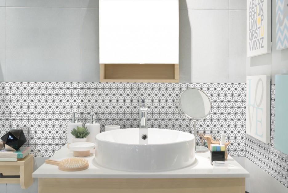 Ściana w strefie umywalki: pakiet pomysłów