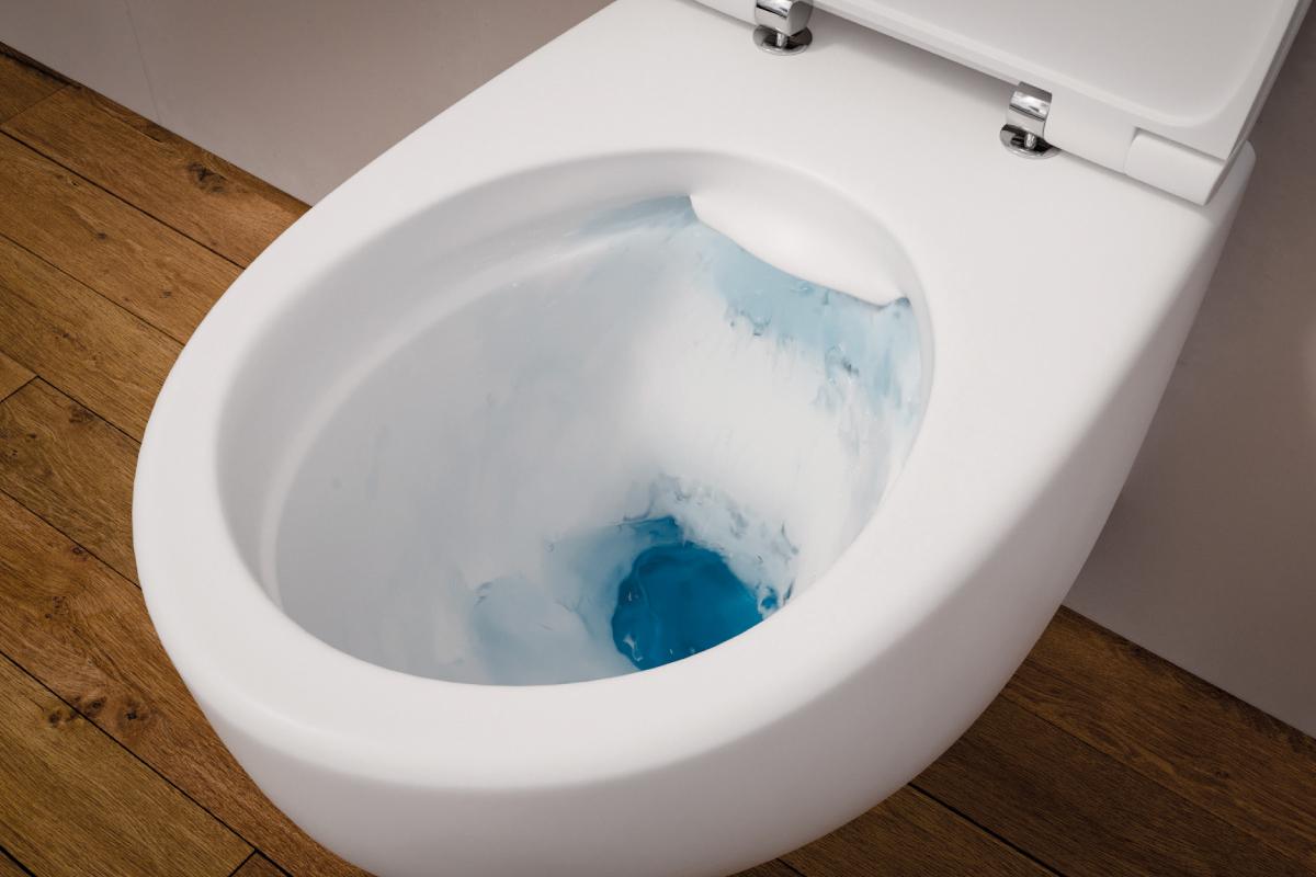 Bezrantowa miska wisząca, WC z marki Bull. Fot. Excelllent
