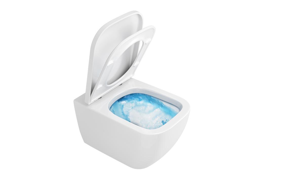 Bezrantowa miska WC z nowej serii toaletowej Ness. Fot. Excellent