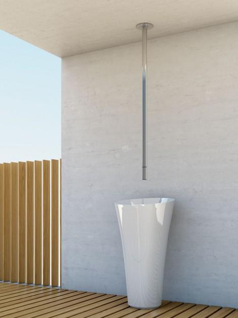 Bateria umywalkowa sufitowa Lusa z głowicą progresywną / Bruma
